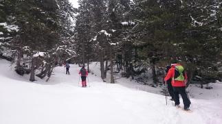 ...excursión con Raquetas de Nieve...