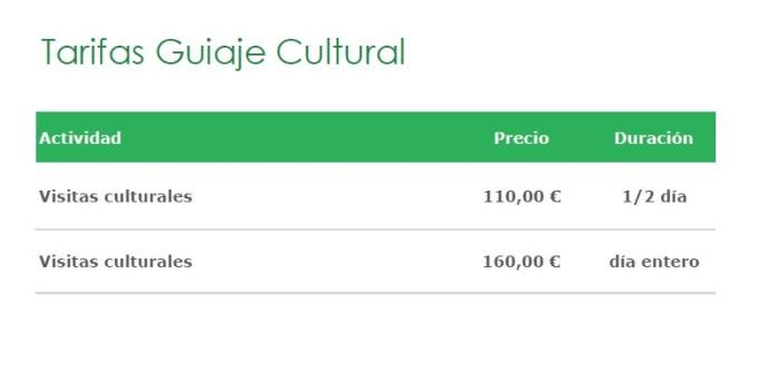 Tarifas Cultural
